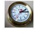 Clock Radio Room Brass 200mm