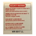 SECURITY WARNING 400X400MM