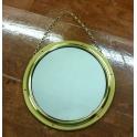 Brass mirror 23cm.